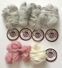 ACA Supreme Angora Yarn Remnants, 45.2 Gr (1.6 oz) Total Weight, For Edging