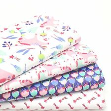 Lot de Fat Quarter (46 X 54 cm) - Happy Licornes X 4 100% Cotton Enfants Tissu