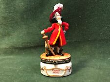 Disney Captain Hook Peter Pan Villain Ceramic Porcelain Trinket Box Figure