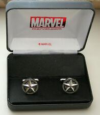 Marvel Comics Captain America Sheild Metal Cuff Links New NOS Box