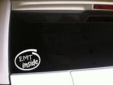EMT Inside Car Decal Vinyl Sticker F17 Emergency Medical Fireman Rescue Symbols