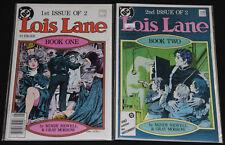 DC Copper Age LOIS LANE #1 & 2 - 2pc Comic Lot Grade VF-NM Superman Mindy Newell