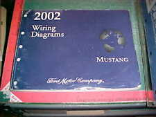 2002 MUSTANG WIRING DIAGRAMS SERVICE MANUAL  LIGHT WAVY/STAINED PAGES FAIR only