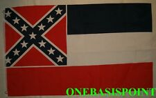 3'x5' Mississippi State Flag USA Confederate Battle Saltire Rebel Outdoor 3X5