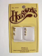 """Dollhouse 1"""" Scale Round Draw Pulls 6 per Package HW1112 NEW"""