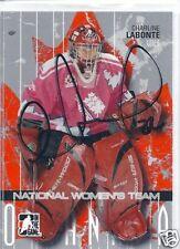 Charlene LABONTE Signed ITG O' Canada Card