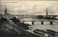Frankfurt am Main Sachsenhausen AK 1908 Panorama mit Brücke Verlag Metz & Lautz