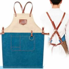 Canvas Kitchen Cook Apron Chef Waiter Uniform Hairdressing Barber Painting Work