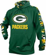 Zubaz NFL Men's Green Bay Packers Pullover Hoodie with Camo Print