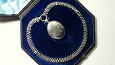 Antique Victorian Silver Etruscan Collar with Picture Locket Pendant
