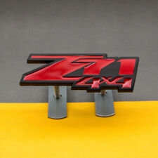 Black & Red Metal Z71 4x4 Front Grille Badge Grill Emblem for Silverado Sierra