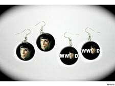 What Would Spock Do Star Trek Vulcan Leonard Nimoy 2 pairs of charm EARRINGS