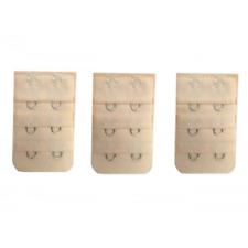 3 rallonges beige extension soutien gorge 2 crochets -  accessoire lingerie