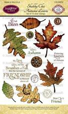 JustRite Papercraft Shabby Chic Autumn Leaves Clear Stamps