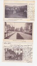 Antique Post Card Lot of 3 Vermont