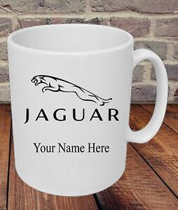 Personalised Jaguar Car Logo Mug Dad Grandad Uncle Mum Present Gift Friend Name