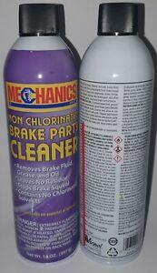 Mechanics Non Chlorinated Brake Parts Cleaner 14 oz Qty 2