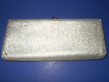 Vintage Silver Lame' Formal Wedding Evening Prom Dress Clutch Purse
