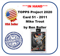 **IN HAND** Project 2020 Card Card 51 - 2011 Mike Trout by Ben Baller