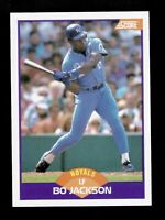 1989  BO JACKSON SCORE CARD #330 ROYALS  BASEBALL SHARP
