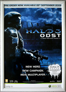 HALO 3 ODST RARE XBOX 360 42cm x 59cm Promotional Poster