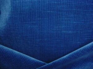 3-1/2Y Schumacher 69774 Antique Strie Velvet Lapis Blue Upholstery Fabric