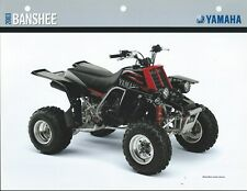 ATV Data Sheet - Yamaha - Banshee - YFZ350R Black Red - 2003 - Brochure (V216)