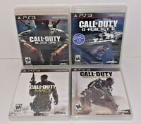 Lot of 4 Call of Duty MW3 Ghosts Black Ops Advanced PlayStation 3 PS3 No Manuals