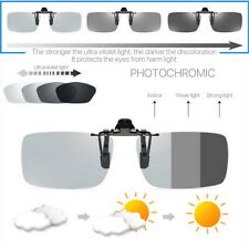 Polarized Photochromic Sunglasses UV400 Driving Fishing Lens Clip On Eyewear UK