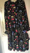 Dorothy Perkins Fit & Flare asimétrico vestido Maxi Vestido Midi Floral Print Sz 24