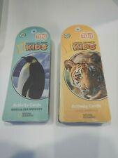 Leap Frog Tag National Geographic Kids Activity Cards Land Birds Sea Animals