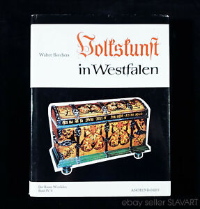 BOOK German Folk Art Westphalia peasant furniture costume painting pottery icon