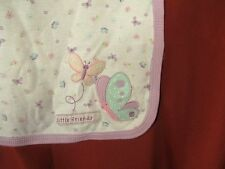 JUST ONE YEAR PURPLE LILAC LITTLE FRIENDS BUTTERFLY COTTON BABY BLANKET