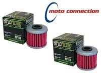 HI FLO FILTRO PREMIUM ENGINE OIL FILTERS (PACK OF 2) HF116 FOR HONDA CRF250 2009