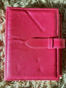 BRAND NEW NEVER USED BRIGHT PINK EARRING STORAGE BOOK