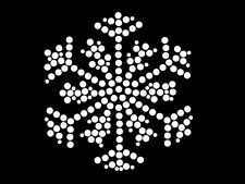 HotFix Diamante Snow Flake Winter Transfer iron on motif for t-shirts bags -No10