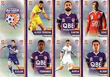 2015/16 TAP N PLAY FFA & A-LEAGUE 16-CARD BASE TEAM SET PERTH GLORY