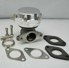 TURBO CHARGED 38mm EXTERNAL TURBO WASTEGATE DUO SPRING 14PSI (8LB+6LB) SILVER