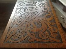 Aesthetic Art & Craft carved oak table of Ivy designed with detail legs