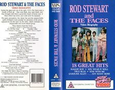 ROD STEWART & THE FACES - VHS - PAL - NEW - Never played - Original Oz release