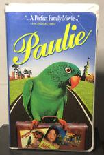 Paulie (VHS, 1998 Clamshell) Cheech Marin, Hallie Eisenberg, Jay Mohr Acceptable