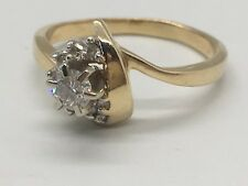 Gorgeous FD 14K Yellow Gold and Diamond Ring in a Size 6.75