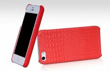 BOROFONE HOCO Crocodile BACK COVER Leather Case for APPLE iphone 5/5s RED H2432