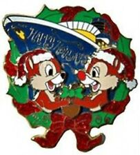 Disney Pin: DCL Cruise Line Happy Holidays 2006 - Chip and Dale