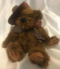 near mint 100th Anniversary TEDDY Roosevelt Bear Dan Dee Brown Hat/Scarf Glasses