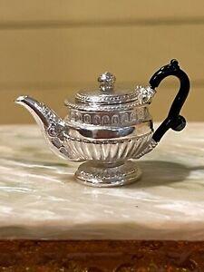 Artisan Miniature Dollhouse Stephen J. Randall UK Sterling Silver Tea Pot Lovely
