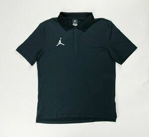 Nike Jordan Statement Short Sleeve Game Polo Men's Medium Black CD2216-010