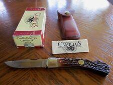 "CAMILLUS C-6  CARTRIDGE 30-06 5"" LOCKBACK KNIFE WITH SHEATH"