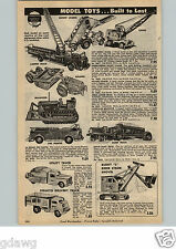 1954 PAPER AD Buddy L Structo Toy Truck Barber Greene Bucket Loader Euclid Dump