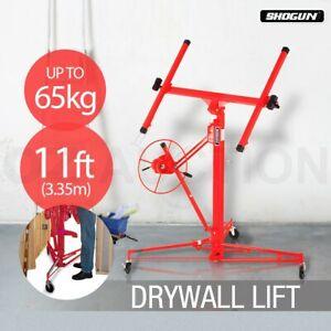 Red Shogun 11ft Drywall Sheet Panel Lifter Plaster Board Hoist Lift Plasterboard